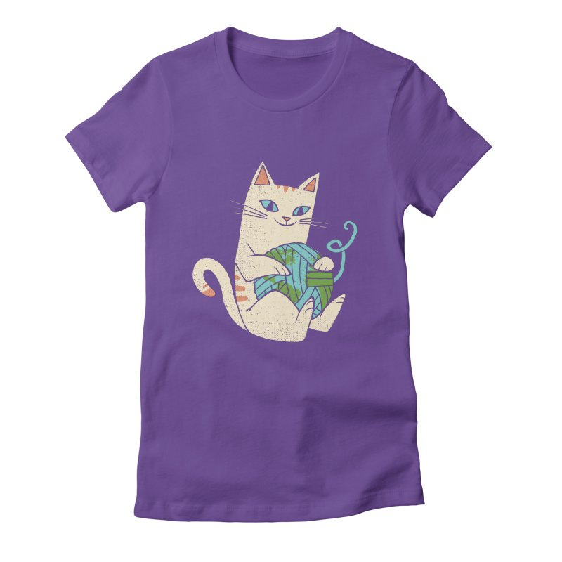 The Wool is mine Women's Fitted T-Shirt by spike00