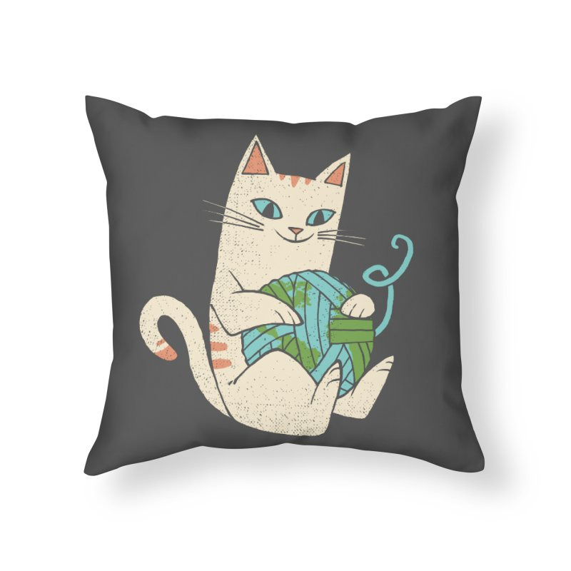 The Wool is mine Home Throw Pillow by spike00