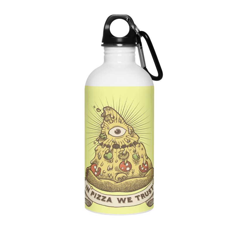 in Pizza we trust Accessories Water Bottle by spike00