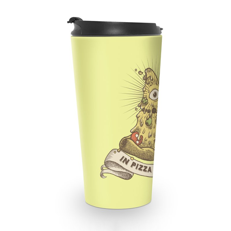 in Pizza we trust Accessories Travel Mug by spike00