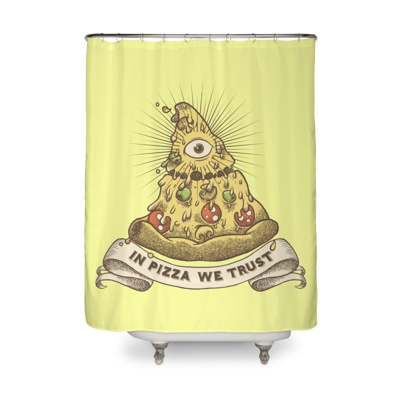 in Pizza we trust Home Shower Curtain by spike00