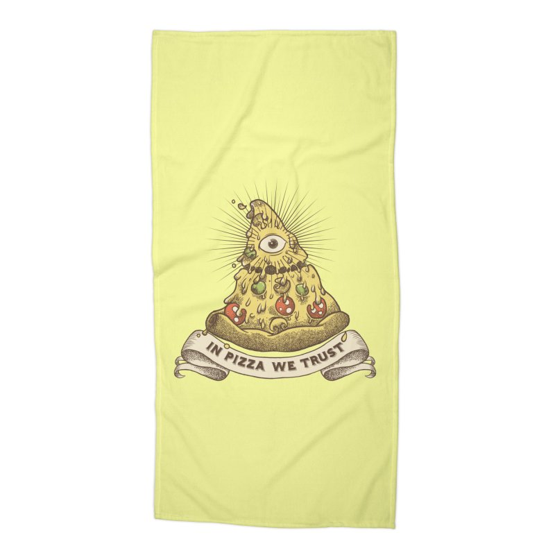 in Pizza we trust Accessories Beach Towel by spike00