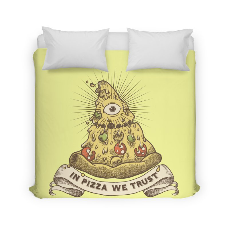 in Pizza we trust Home Duvet by spike00