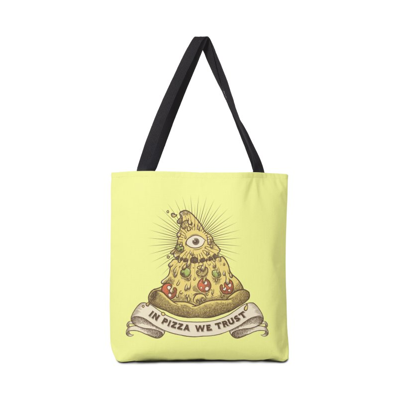 in Pizza we trust Accessories Tote Bag Bag by spike00