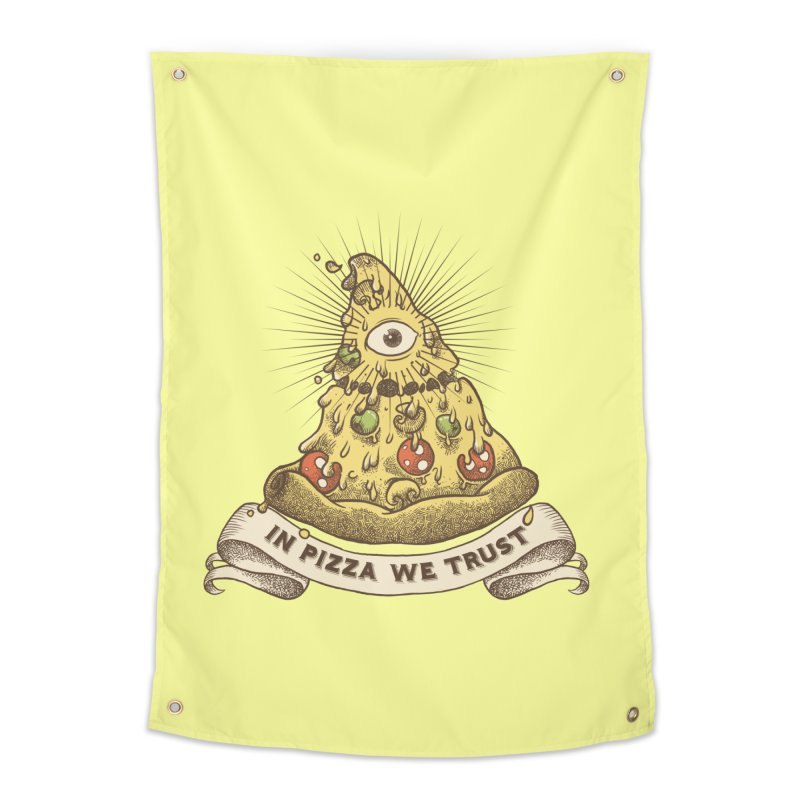 in Pizza we trust Home Tapestry by spike00