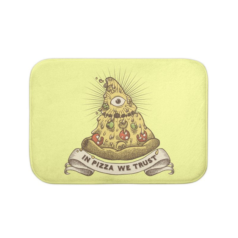 in Pizza we trust Home Bath Mat by spike00