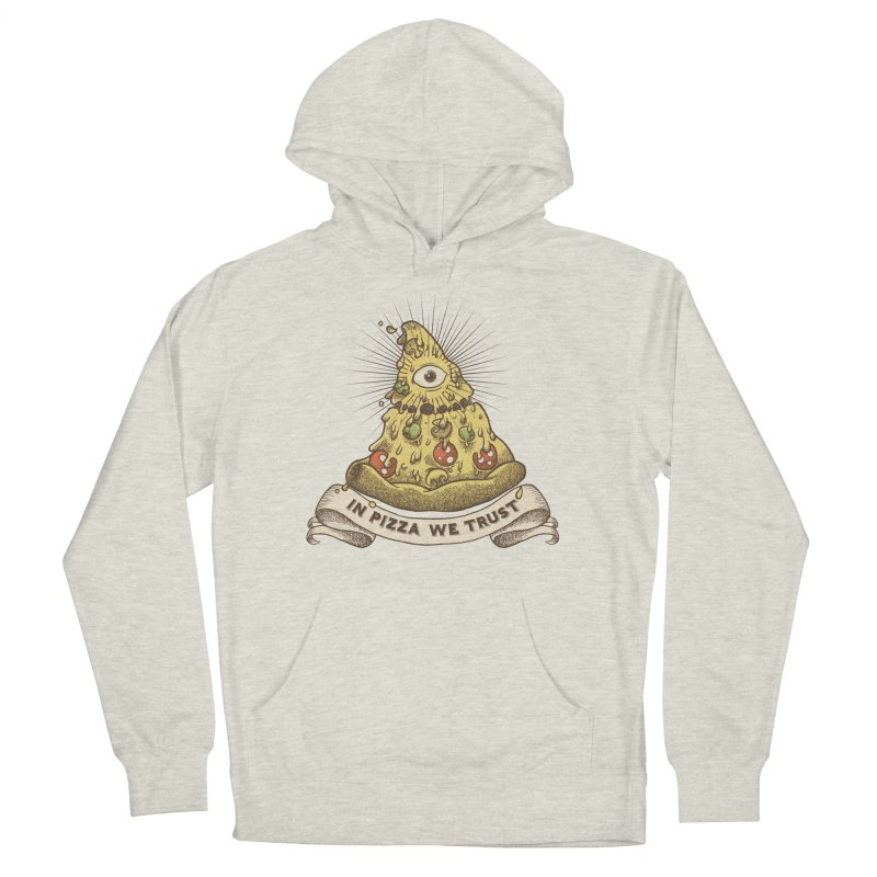 in Pizza we trust Men's French Terry Pullover Hoody by spike00