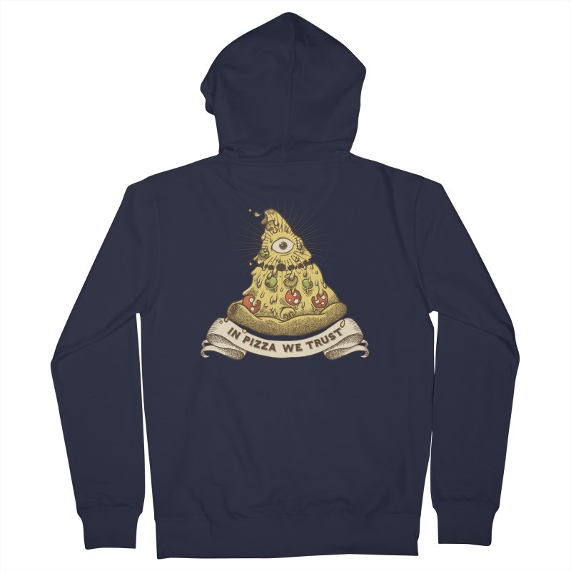 in Pizza we trust Women's French Terry Zip-Up Hoody by spike00