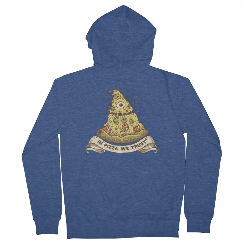 in Pizza we trust Men's French Terry Zip-Up Hoody by spike00