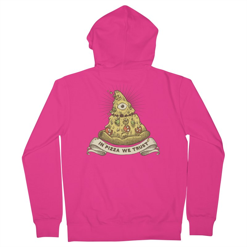 in Pizza we trust Men's Zip-Up Hoody by spike00