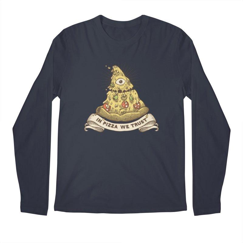 in Pizza we trust Men's Regular Longsleeve T-Shirt by spike00