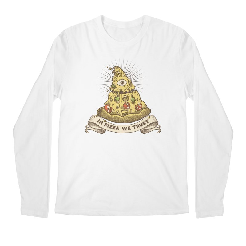 in Pizza we trust Men's Regular Longsleeve T-Shirt by spike00