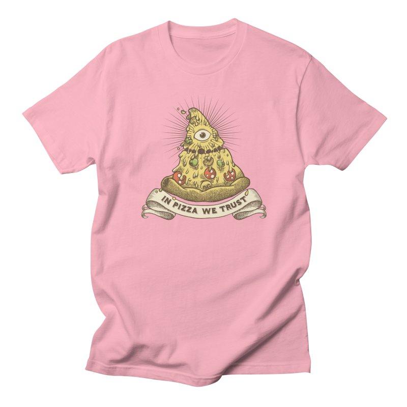 in Pizza we trust Women's Regular Unisex T-Shirt by spike00
