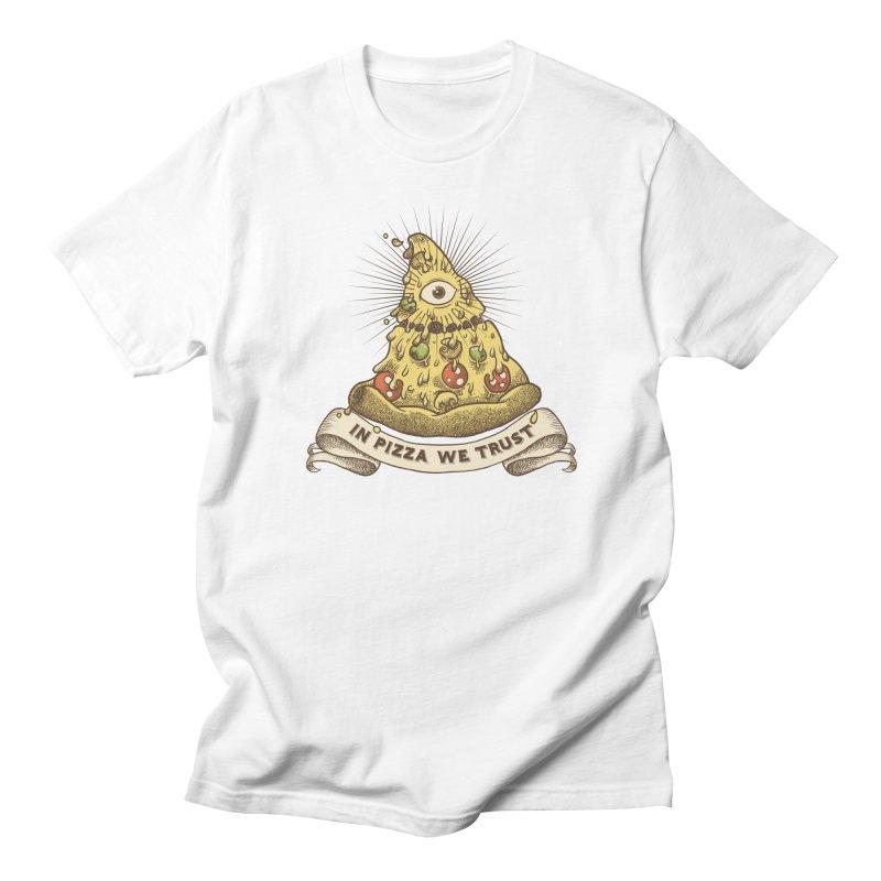 in Pizza we trust Men's Regular T-Shirt by spike00