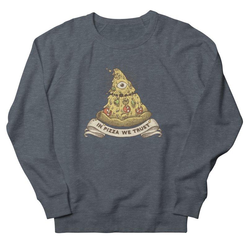 in Pizza we trust Men's Sweatshirt by spike00
