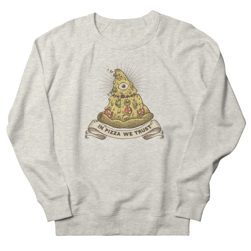 in Pizza we trust Men's French Terry Sweatshirt by spike00