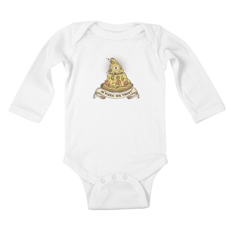 in Pizza we trust Kids Baby Longsleeve Bodysuit by spike00
