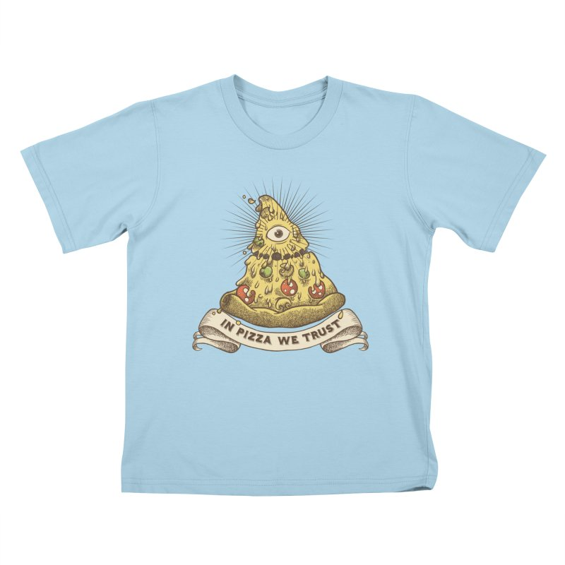 in Pizza we trust Kids T-Shirt by spike00