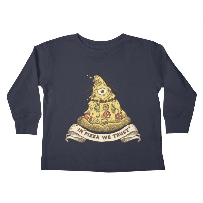 in Pizza we trust Kids Toddler Longsleeve T-Shirt by spike00