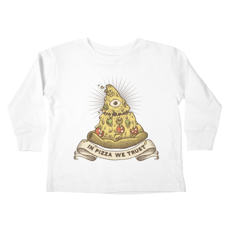 in Pizza we trust Kids Toddler Longsleeve T-Shirt by spike00