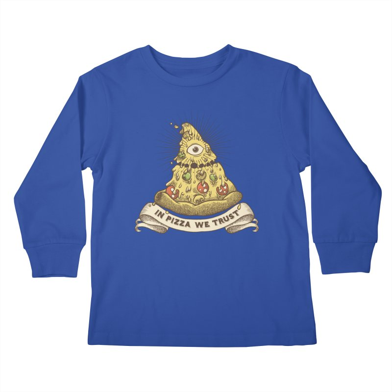 in Pizza we trust Kids Longsleeve T-Shirt by spike00