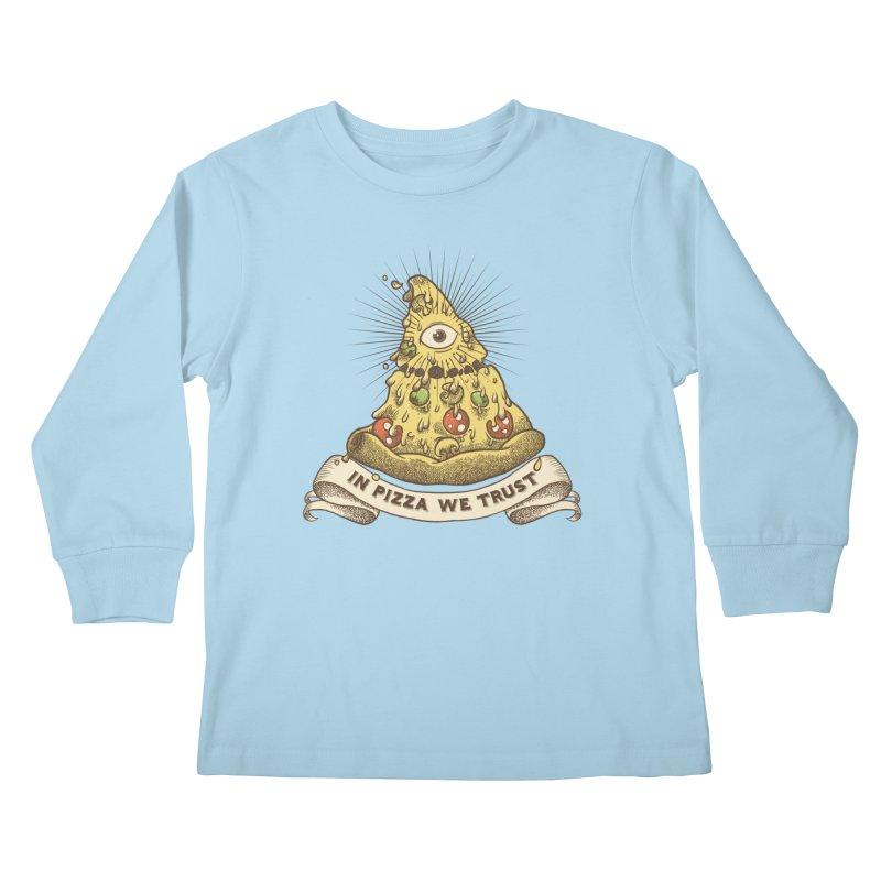 in Pizza we trust Kids Longsleeve T-Shirt by spike00