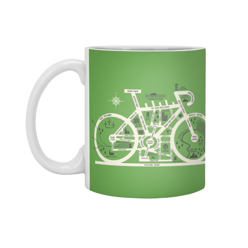 Bike City Map Accessories Standard Mug by spike00