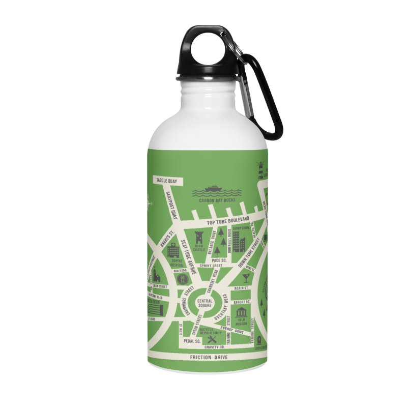 Bike City Map Accessories Water Bottle by spike00