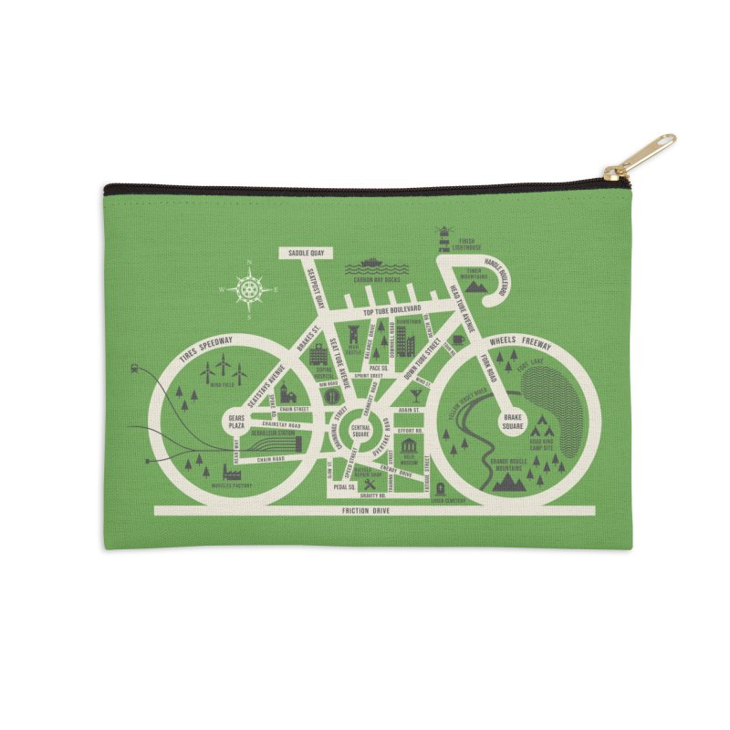 Bike City Map Accessories Zip Pouch by spike00