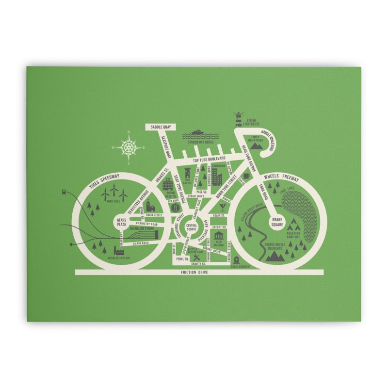 Bike City Map Home Stretched Canvas by spike00