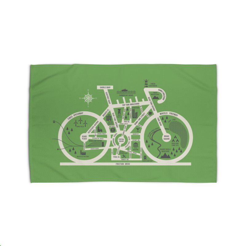 Bike City Map Home Rug by spike00