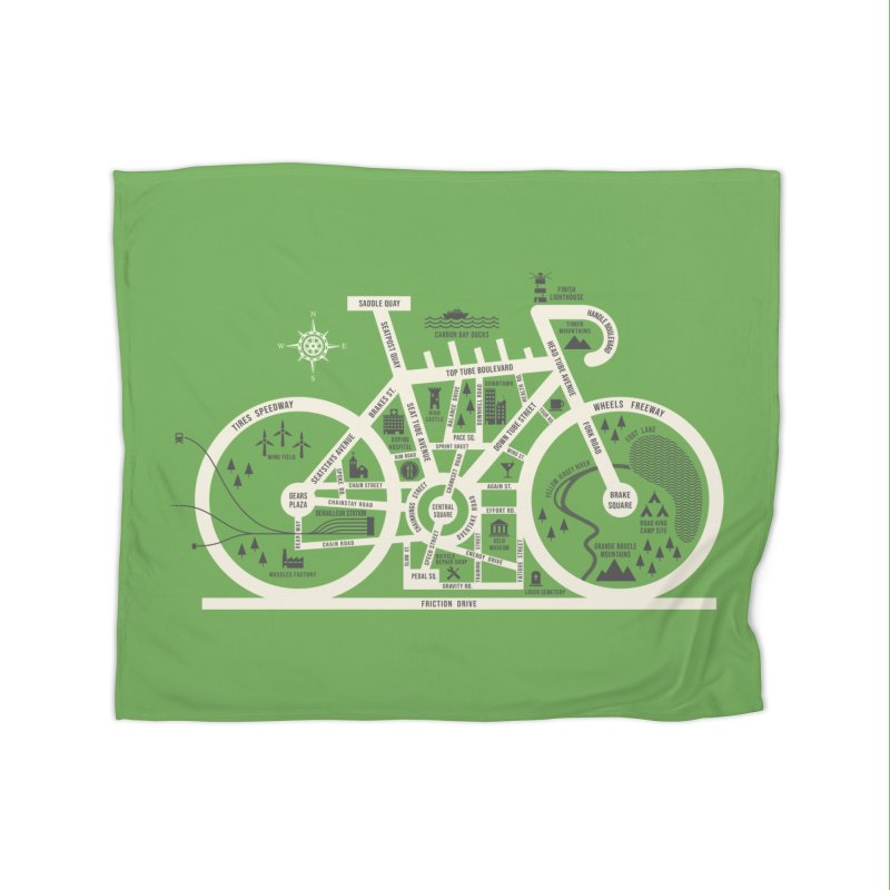 Bike City Map Home Fleece Blanket Blanket by spike00