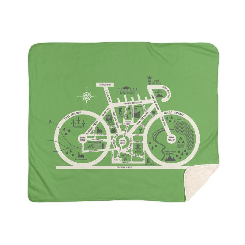 Bike City Map Home Sherpa Blanket Blanket by spike00