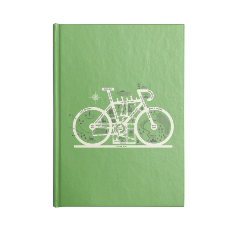 Bike City Map Accessories Lined Journal Notebook by spike00