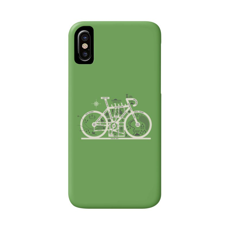Bike City Map Accessories Phone Case by spike00
