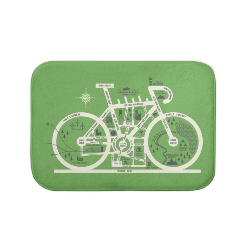 Bike City Map Home Bath Mat by spike00
