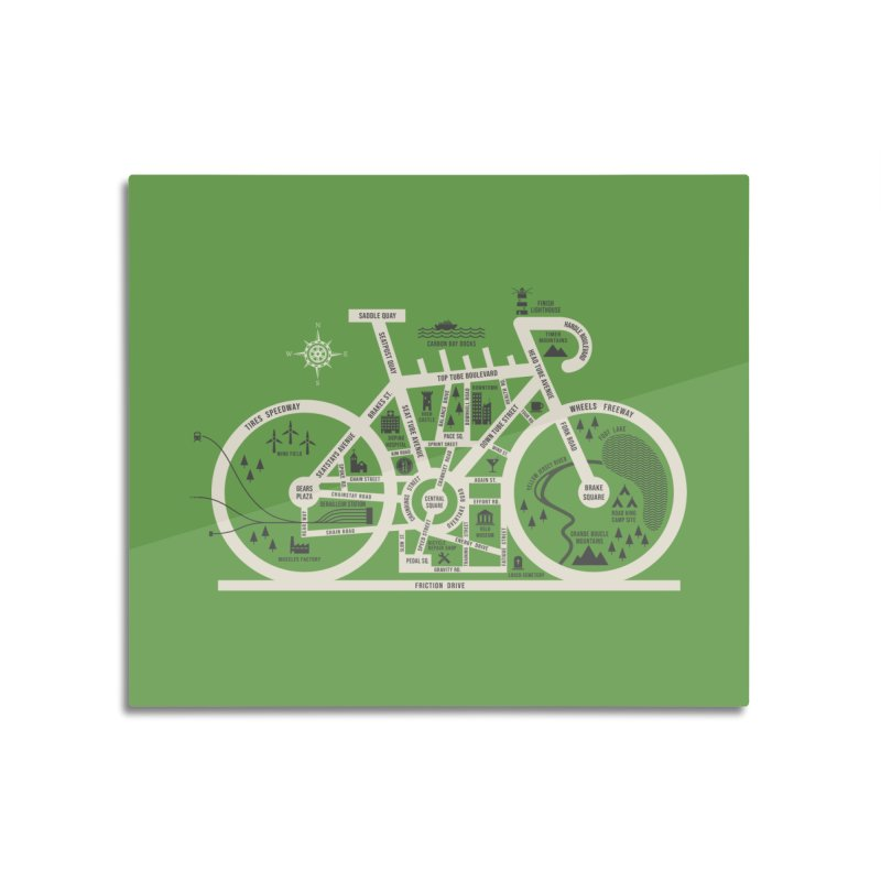Bike City Map Home Mounted Aluminum Print by spike00
