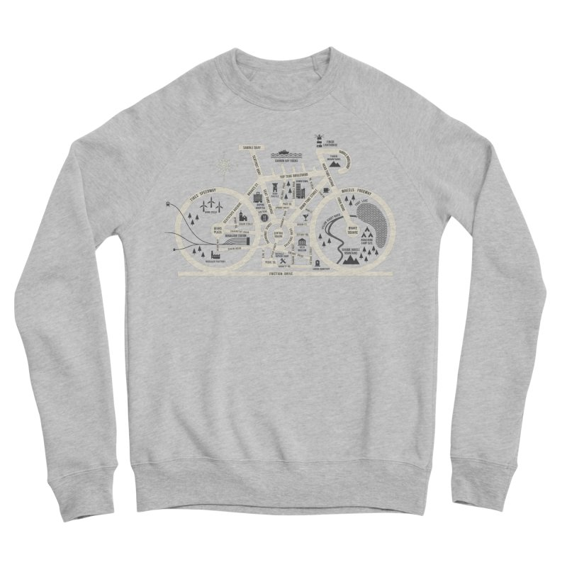 Bike City Map Men's Sponge Fleece Sweatshirt by spike00