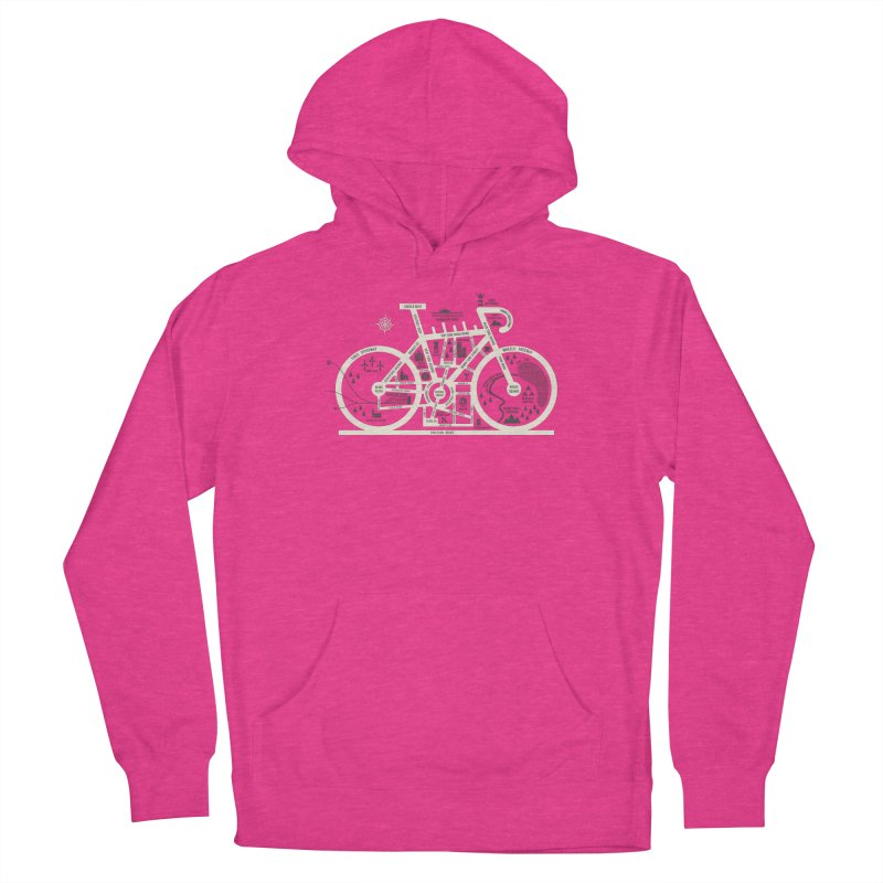 Bike City Map Men's French Terry Pullover Hoody by spike00