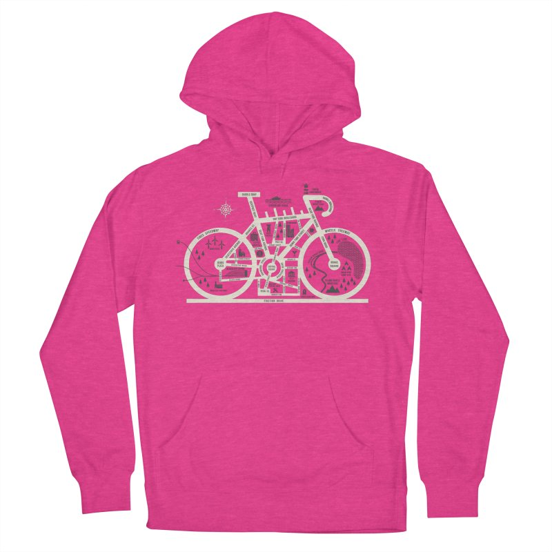 Bike City Map Women's French Terry Pullover Hoody by spike00