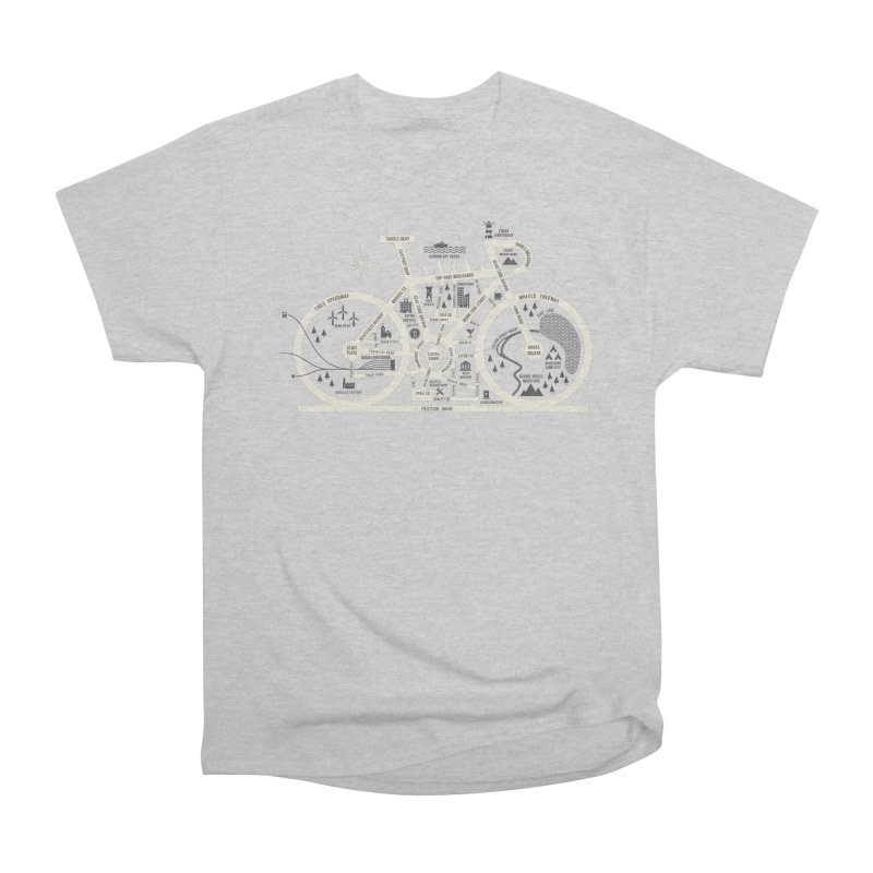 Bike City Map Women's Heavyweight Unisex T-Shirt by spike00