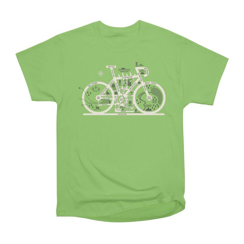 Bike City Map Women's Heavyweight Unisex T-Shirt by spike00