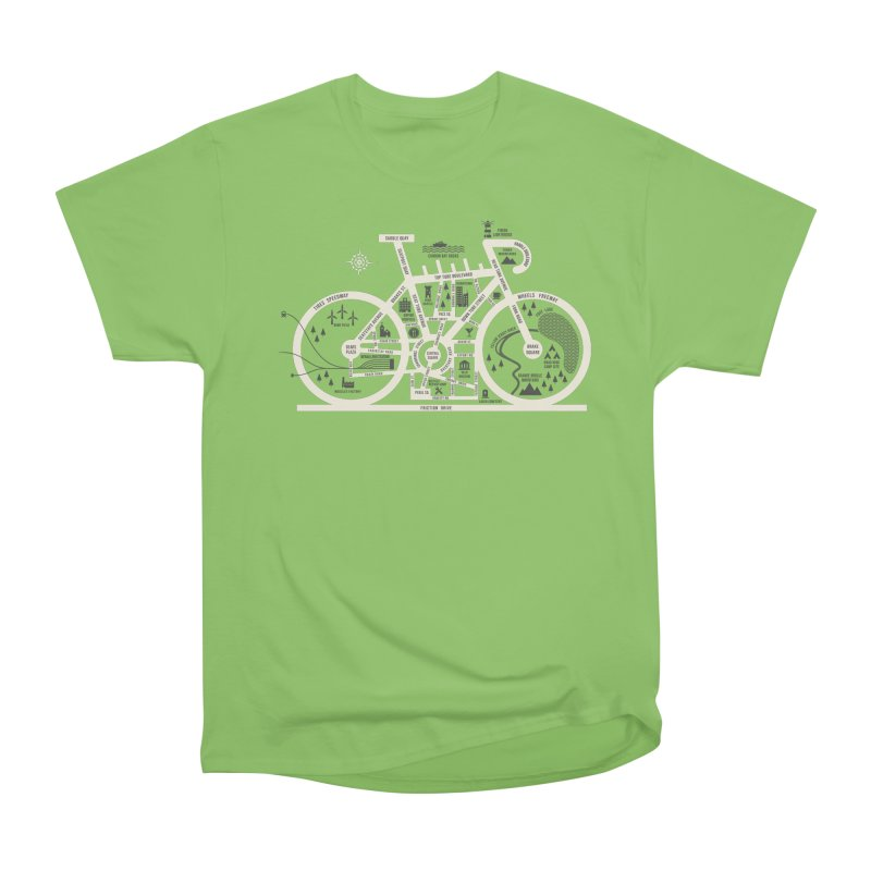 Bike City Map Men's Heavyweight T-Shirt by spike00