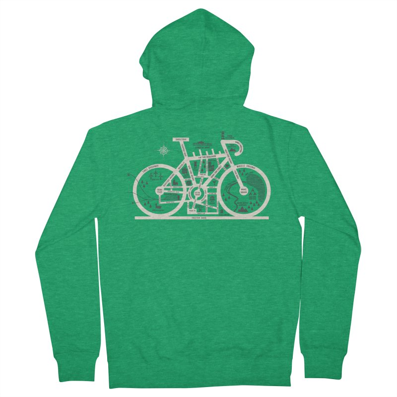 Bike City Map Men's French Terry Zip-Up Hoody by spike00