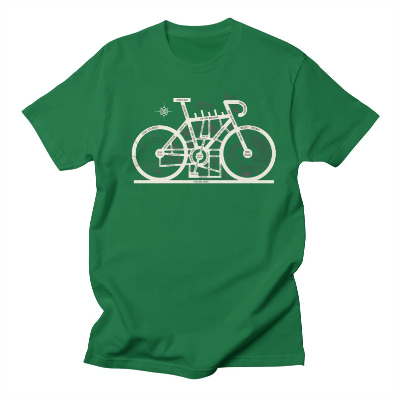 Bike City Map Women's Regular Unisex T-Shirt by spike00
