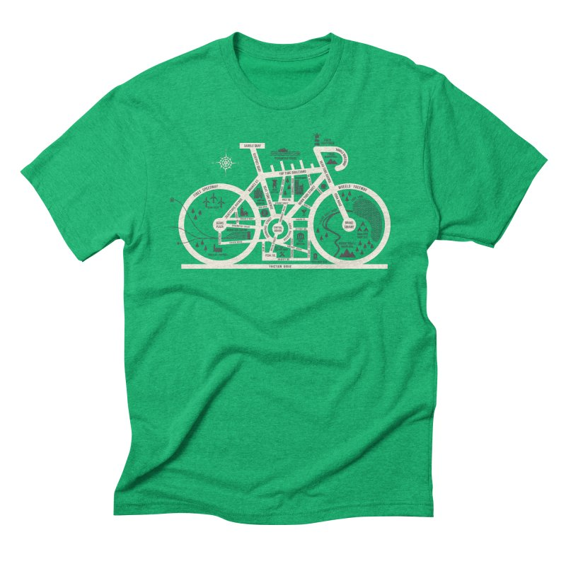 Bike City Map Men's Triblend T-Shirt by spike00