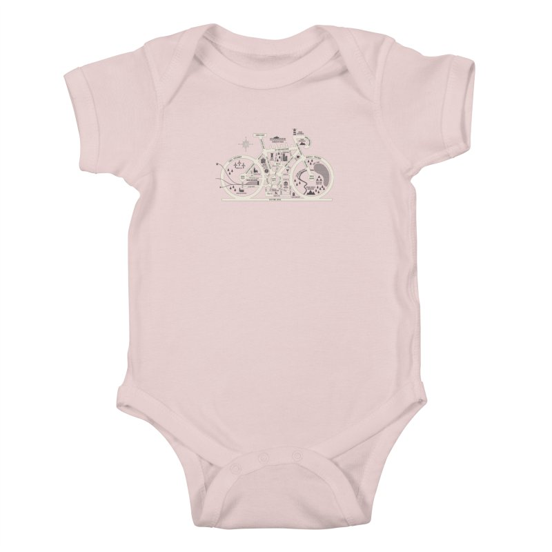 Bike City Map Kids Baby Bodysuit by spike00