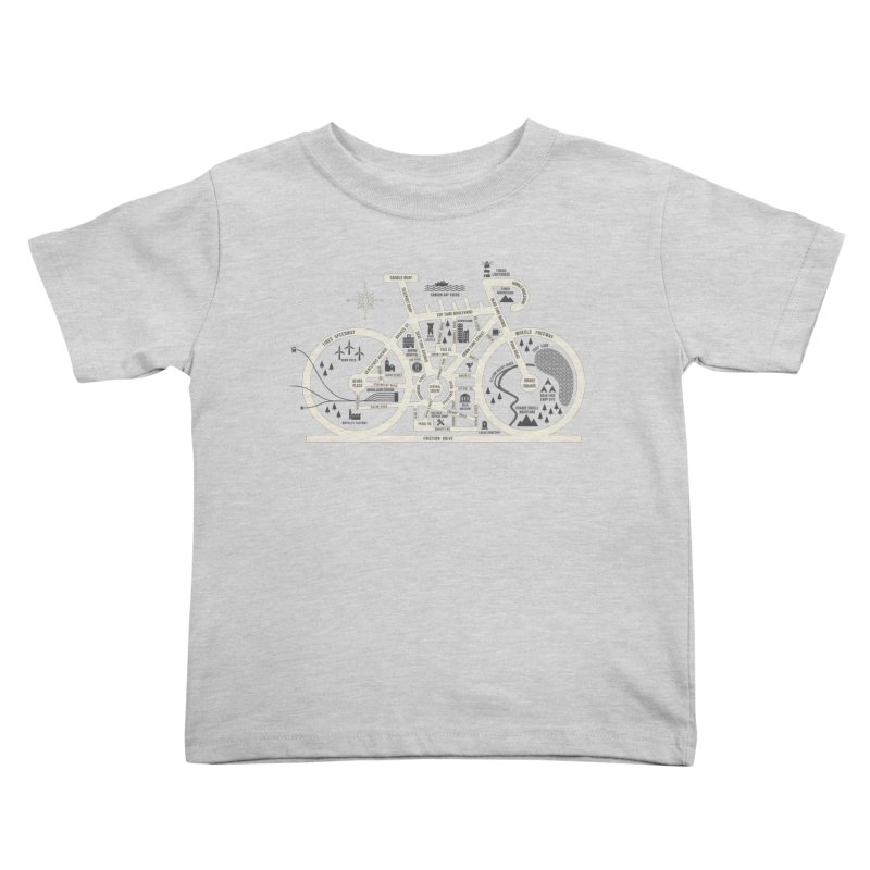 Bike City Map Kids Toddler T-Shirt by spike00