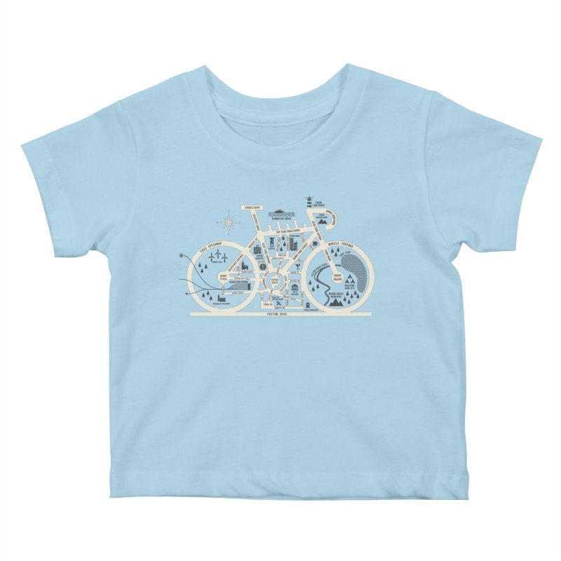 Bike City Map Kids Baby T-Shirt by spike00