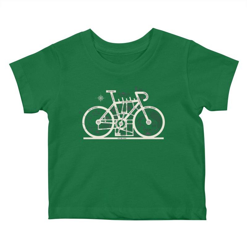 Bike City Map Kids Baby T-Shirt by spike00
